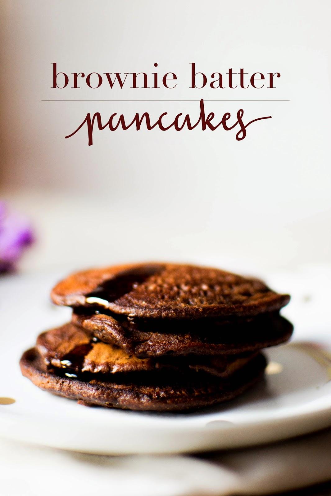 Healthy + Vegan Brownie Batter Pancakes • Miel Café